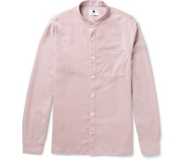 Gustav Slim-fit Grandad-collar Twill Shirt