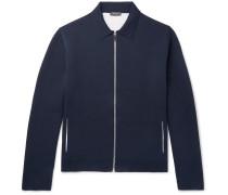 Mulberry Silk-blend Blouson Jacket