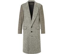Runway Donegal Herringbone And Wool-tweed Coat