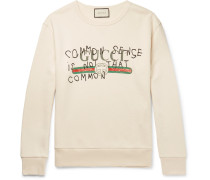 Printed Cotton-jersey Sweatshirt
