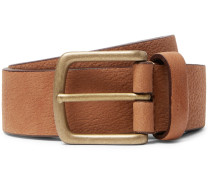 3.5cm Tan Full-grain Leather Belt