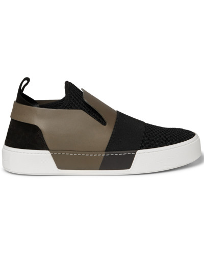 balenciaga herren leather suede and mesh slip on sneakers. Black Bedroom Furniture Sets. Home Design Ideas