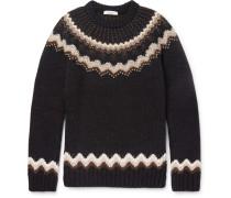 Slim-fit Studded Fairisle Wool And Alpaca-blend Sweater