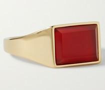 Lennox Gold Vermeil Agate Ring