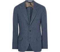 Blue Slub Linen Blazer