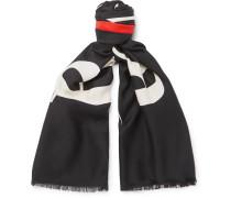 Printed Silk And Wool-blend Jacquard Scarf