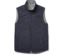 Reversible Suede And Shell Gilet