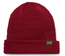 Ribbed Virgin Wool Beanie