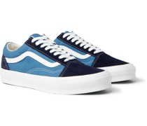 OG Old Skool LX Leather-Trimmed Suede and Canvas Sneakers