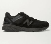 M990v5 Rubber-Trimmed Suede and Mesh Sneakers