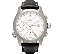 + Bremont Alt1-wt/wh World Timer Stainless Steel And Leather Automatic Chronograph Watch