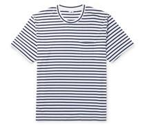 Kurt Striped Cotton-Jersey T-Shirt