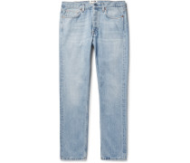 Van Slim-fit Tapered Stonewashed Denim Jeans