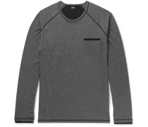 Cotton-blend Jersey Pyjama Top