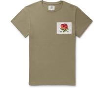 Slim-fit Appliquéd Cotton-jersey T-shirt