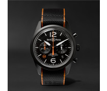 Br 126 41mm Steel And Nato Canvas Chronograph Watch