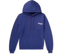 Printed Cotton-blend Jersey Hoodie