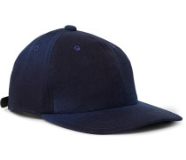 Indigo-dyed Cotton-twill Baseball Cap