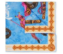 Samurai Printed Silk-twill Pocket Square