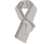 Two-tone Ribbed Cashmere Scarf