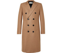 Double-breasted Camel Hair-blend Coat