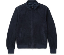 Mayfair Suede Bomber Jacket