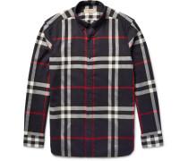 Brit Button-down Collar Checked Cotton-twill Shirt