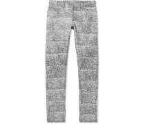 Slim-fit Printed Cotton-blend Jeans