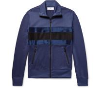 Satin-panelled Tech-jersey Track Jacket