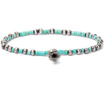 Burnished Sterling Silver Turquoise Bracelet
