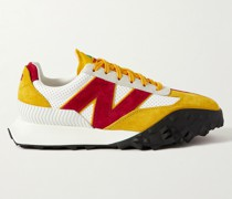 + Casablanca XC72 Suede-Trimmed Leather Sneakers