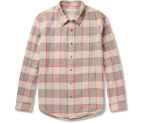 Plano Checked Organic Cotton-flannel Shirt