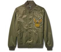 Lewis Appliquéd Cotton-blend Twill Bomber Jacket
