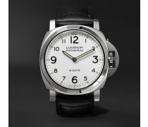 Luminor Base 8 Days Acciaio 44mm Stainless Steel And Leather Watch