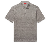 Space-dyed Linen And Cotton-blend Polo Shirt