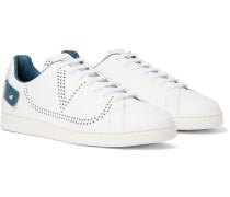 Valentino Garavani Backnet Perforated Leather Sneakers