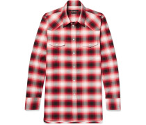 Dusty Slim-fit Checked Cotton Shirt