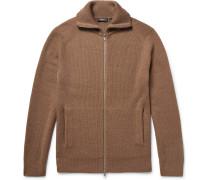 Ronzons Ribbed Merino Wool Zip-up Sweater