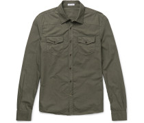 Riviera Slim-fit Cotton-poplin Shirt