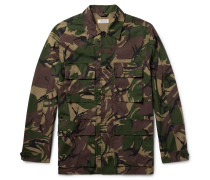 Camouflage-print Cotton-blend Field Jacket