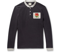 Appliquéd Cotton-jersey Polo Shirt