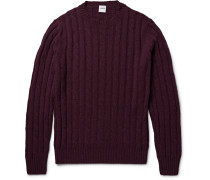 Cable-knit Mélange Wool Sweater