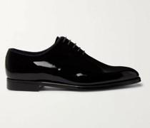 James Whole-Cut Patent-Leather Oxford Shoes