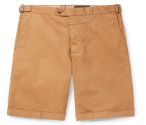 Slim-Fit Cotton-Blend Twill Shorts
