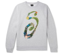 Logo-Print Mélange Fleece-Back Cotton-Blend Jersey Sweatshirt