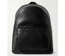 Logo-Debossed Leather Backpack