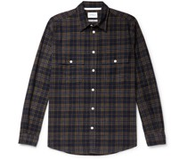 Villads Checked Brushed Cotton-Flannel Shirt