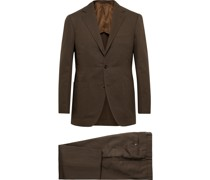 Slim-Fit Cotton and Linen-Blend Twill Suit