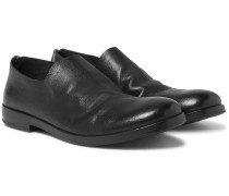 Whole-cut Leather Loafers
