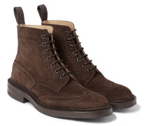 Stow Suede Brogue Boots